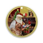 Santa at home with Syenna Ornament (Round)