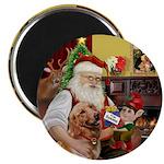 Santa at home with Syenna Magnet