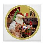 Santa at home with Syenna Tile Coaster