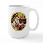 Santa at home with Syenna Large Mug