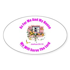 JOSHUA 24:15 Oval Sticker (10 pk)
