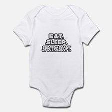 """Eat. Sleep. Spectroscopy."" Infant Bodysuit"