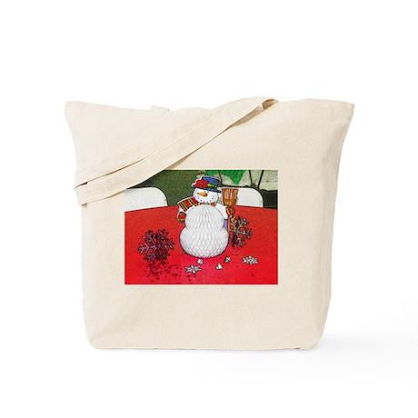 HOLIDAYS Snow Man Tote Bag