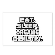 """Eat Sleep Organic Chemistry"" Postcards (Package o"