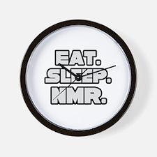 """""""Eat. Sleep. NMR."""" Wall Clock"""