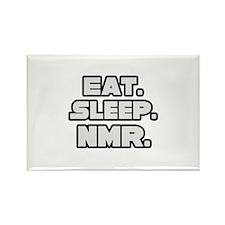 """Eat. Sleep. NMR."" Rectangle Magnet"