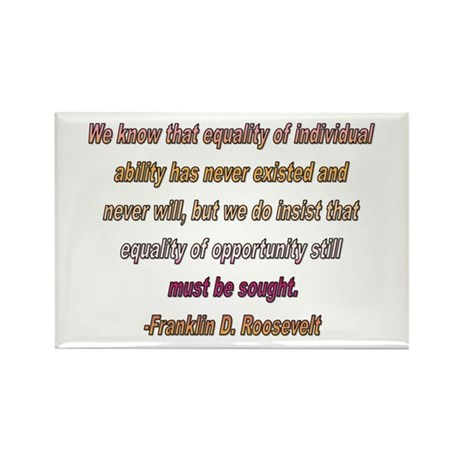 FDR quote Rectangle Magnet