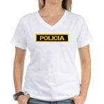 Policia Women's V-Neck T-Shirt