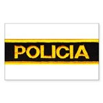 Policia Rectangle Sticker 50 pk)