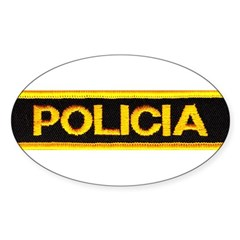 Policia Oval Decal
