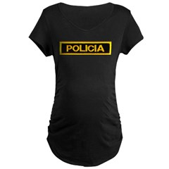 Policia Maternity Dark T-Shirt