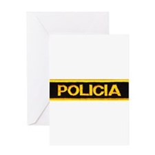 Policia Greeting Card