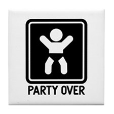 Party Over Tile Coaster