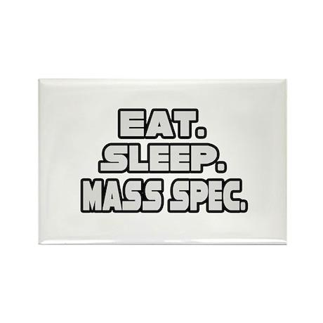 """""""Eat. Sleep. Mass Spec."""" Rectangle Magnet"""