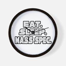 """""""Eat. Sleep. Mass Spec."""" Wall Clock"""