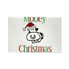 Mooey Christmas Rectangle Magnet