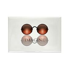 Imagine Rose Colored Glasses Rectangle Magnet