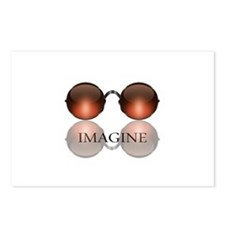 Imagine Rose Colored Glasses Postcards (Package of