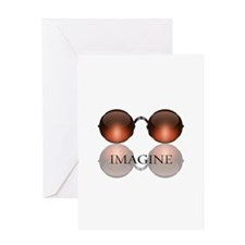 Imagine Rose Colored Glasses Greeting Card