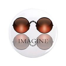 """Imagine Rose Colored Glasses 3.5"""" Button"""