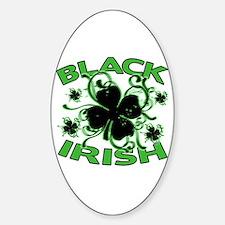 Black Shamrocks Black Irish Decal