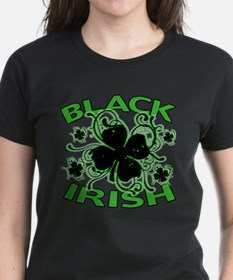 Black Shamrocks Black Irish Tee