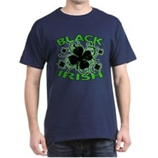 Black Shamrocks Black Irish T-Shirt