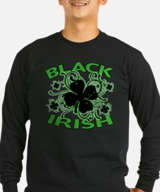 Black Shamrocks Black Irish T