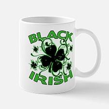 Black Shamrocks Black Irish Mug