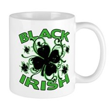 Black Shamrocks Black Irish Small Mug