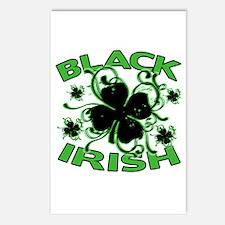 Black Shamrocks Black Irish Postcards (Package of