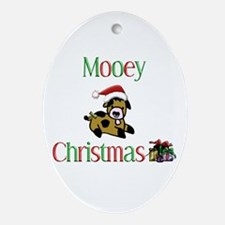 Mooey Christmas Oval Ornament