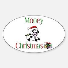 Mooey Christmas Oval Decal