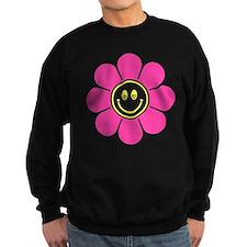 Hot Pink Smiley Flower Sweatshirt