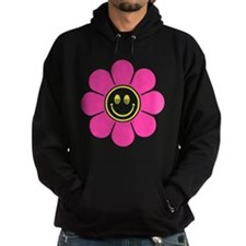 Hot Pink Smiley Flower Hoodie