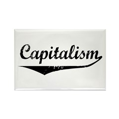 Capitalism Rectangle Magnet (100 pack)