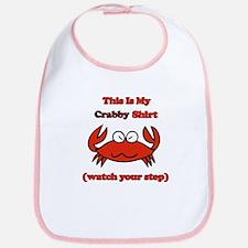 My Crabby Shirt Bib