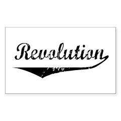 Revolution Rectangle Sticker