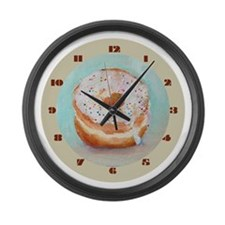 Large Donut Wall Clock (Vanilla with Sprinkles)