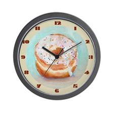 Donut Wall Clock (Vanilla with Sprinkles)