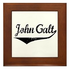 John Galt Framed Tile