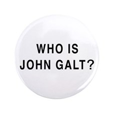 """Who is John Galt? 3.5"""" Button (100 pack)"""