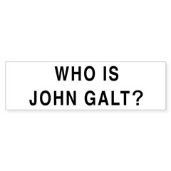 Who is John Galt? Bumper Sticker (50 pk)