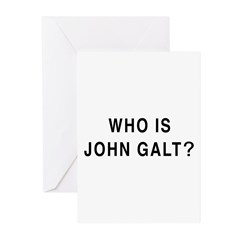 Who is John Galt? Greeting Cards (Pk of 10)