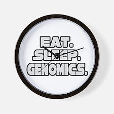 """""""Eat. Sleep. Genomics."""" Wall Clock"""