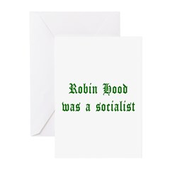 Robin Hood Was A Socialist Greeting Cards (Pk of 2