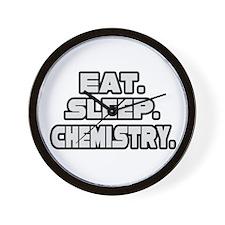 """Eat. Sleep. Chemistry."" Wall Clock"