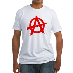Anarchy Symbol Red Shirt