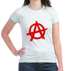 Anarchy Symbol Red T