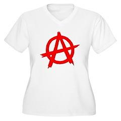 Anarchy Symbol Red T-Shirt